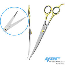 YNR® Dog Grooming Scissors Curved Hair Cutting Pet Shears Salon New  Stainless