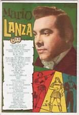 Mario Lanza. Cancionero