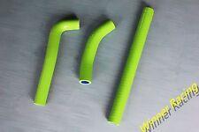 silicone radiator coolant hose kit Kawasaki KX125 KX 125 1986 GREEN