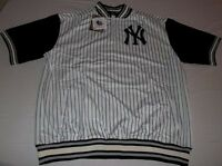 New York Yankees Quarter Zip Pullover Jersey 3XL Pinstripes Embroidered Logo MLB