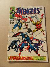 Avengers 58 . Origin The Vision  . HOT ! Marvel 1968 . FN +