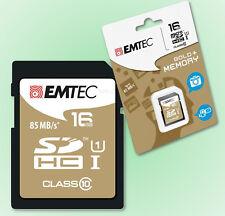 Speicherkarte SDHC 16GB EMTEC CL10 Gold+ UHS-I 85MB/s HD Videoaufnahme 16 GB