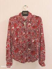 tory burch red flower shirt  Size M