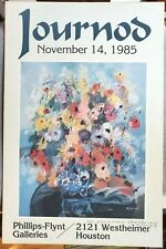 Monique Journod 1985 Exhibition Poster Houston TX SIGNED