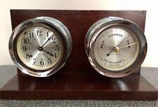 New listing Vintage Maritime Seth Thomas Ship's Bell Clock & Barometer