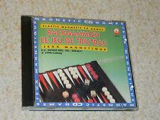 vintage CATHAY 1990 UK JEU JEUX magnétique backgammon MAGNETIC trictrac CD GAME