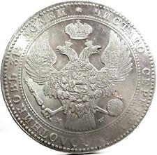 RUSSIA-Poland (Nicola I,10 Zlotych) 1-1/2 Rublo,1836