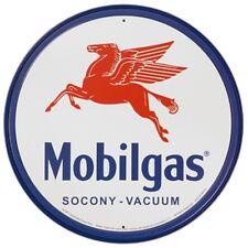 Vintage Metal Art 'Mobilgas' Decorative Tin Sign Full Of Old American Nostalgia!