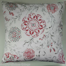 """Cushion Cover in Next Red Stencil Floral 16"""" Matches Curtains Bedding"""