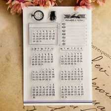 Calendar Transparent Clear Silicone Rubber Stamp DIY Diary Scrapbooking Card