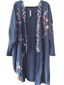 Beautiful Navy Kimono size 28 M&S
