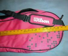 "Wilson Hope Pink Crossbody Tennis Carry Bag 28""x12"" X 3""Euc"