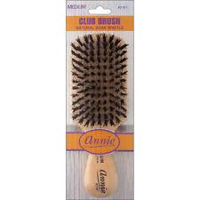 Annie Medium Wave Club Brush Light Brown 50% Nylon and 50% Black Bristle #2161
