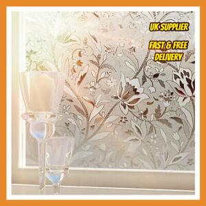 UK Patio Door window film 90cm wide privacy film  Tulip pattern for privacy