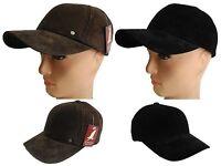 Made in USA unisex 100% genuine leather Suede baseball cap hat  Biker Trucker