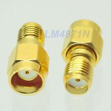 1pce Slide-on Adapter RP.SMA male to SMA female connector gold plating push-on