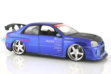 Subaru WRX STI Blue Jada Import Racer 1:24 scale Diecast Model **Rare**
