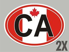 2 Canada CA Canadian OVAL window code stickers flag decal bumper car CL011