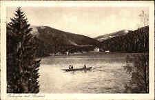 Erlaufsee Niederösterreich alte Postkarte 1941 gelaufen Boot Blick auf Student