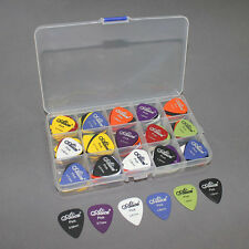 24PCS Acoustic Electric Guitar Picks Plectrums Pick Case Assorted 6 thickness TF