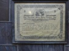the american radio relay league certificate 1934 vintage