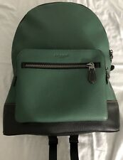 New Men's Coach F31274 West Pebbled Leather BackPack Color Green