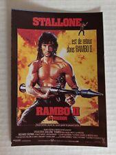 carte postale cinéma film RAMBO 2 La Mission Sylvester Stallone