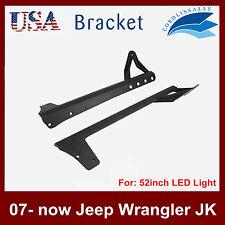 """07-Now Jeep Wrangler JK 52"""" LED Light bar Upper Windshield Mounting Bracket CORO"""