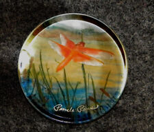 Beautiful Hand Painted Glass Paperweight (Artist Pamela Ross) Corte Madera, CA