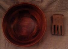 """Large Lipper Multi Purpose 13"""" Cone Shaped Cherry Wood Salad Bowl Hands  NWT"""