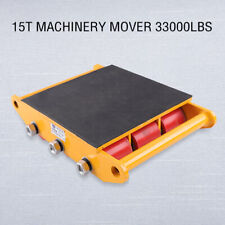 More details for 15t industrial machinery mover dolly skate 9 rollers carrier  heavy duty trolley