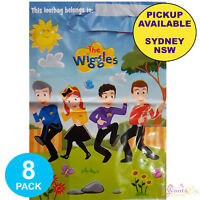 THE WIGGLES PARTY SUPPLIES 8 PLASTIC LOOT LOLLY BIRTHDAY FAVOUR BAGS