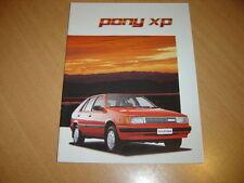 CATALOGUE Hyundai Pony XP en néerlandais