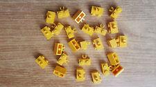 N.28 Pezzi LEGO 30237b  Brick 1x2 Giallo Vertical Clip Mattoncino clip verticale