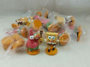 Spongebob Squarepants Patrick & Spongebob 2007 Viacom PVC Cake Topper Lot of 24
