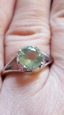 Size L to M 2.21ct Tucson Green Fluoride Sterling Silver Ring