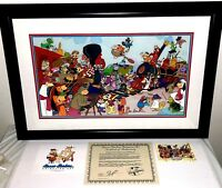 hanna barbera signed cel the golden spike yogi scooby top cat 35 characters cell