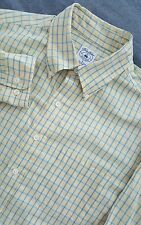BROOKS BROTHERS Men's Long Sleeve Button-Front Sport Shirt Size Large L Yellow