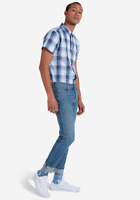 Mens Wrangler Larston stretch slim fit tapered jeans 'Blue charm' SECONDS WA137