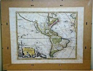 c1740 Novi Orbis Sive Totius America CALIFORNIA AS ISLAND! Rare Antique Map USA