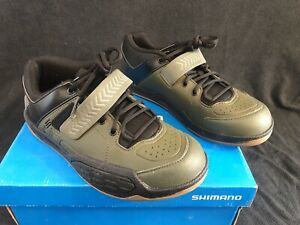 New Men's 43 (8.9US) - Shimano AM5 - Mountain Bike Shoes 2-Bolt Lace Up - Green