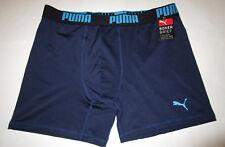 Mens Puma Sport Navy Stretch Boxer Brief XL