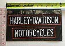 Harley-Davidson Embroidered Straight Rockers Emblem 3XL 12 x 2.75 inch EM199667