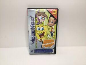 Hasbro Video Now Color Nickelodeon Spongebob Jimmy Neutron 3 PVD Disc Pack