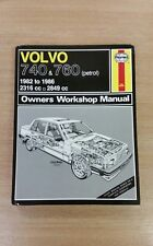 VOLVO 740 & 760 1982-1986 PETROL HAYNES WORKSHOP MANUAL 1258 GREAT COND FREE P&P