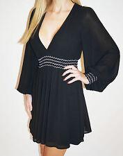 Chiffon Long Sleeve Wrap Dresses