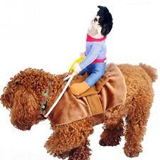 UEETEK Pet Costume Dog Costume Clothes Pet Outfit Suit Cowboy Rider Style,Fits D