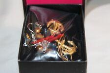 NIB 2010 AVON Nautical Inspired Anchor Faux Coral & Beaded Dangle Earrings AV9