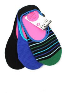 HUE High Cut Cotton Liner Socks 3 Pair Pack O/S U19422