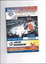 DEL Programm: NÜRNBERG ICE TIGERS - ADLER MANNHEIM 09.12.2001, Saison 01/02